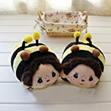 Cute Cartoon Foot Warmer with Monchhichi for Women,Yellow bear