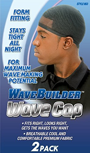Boo Cap (WaveBuilder Wave Cap | Promotes Healthy and Uniform Hair Waves, 2 Count)