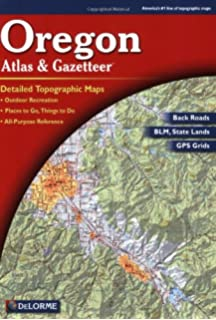 Oregon Atlas And Gazetteer Topo Maps Of The Entire State Delorme - Oregon topographic map