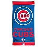 "WinCraft MLB Chicago Cubs A1877115 Fiber Beach Towel, 9 lb/30"" x 60"""