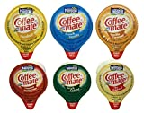 30 Count Coffee Mate Liquid .375oz Sampler Pack (6 Flavor)