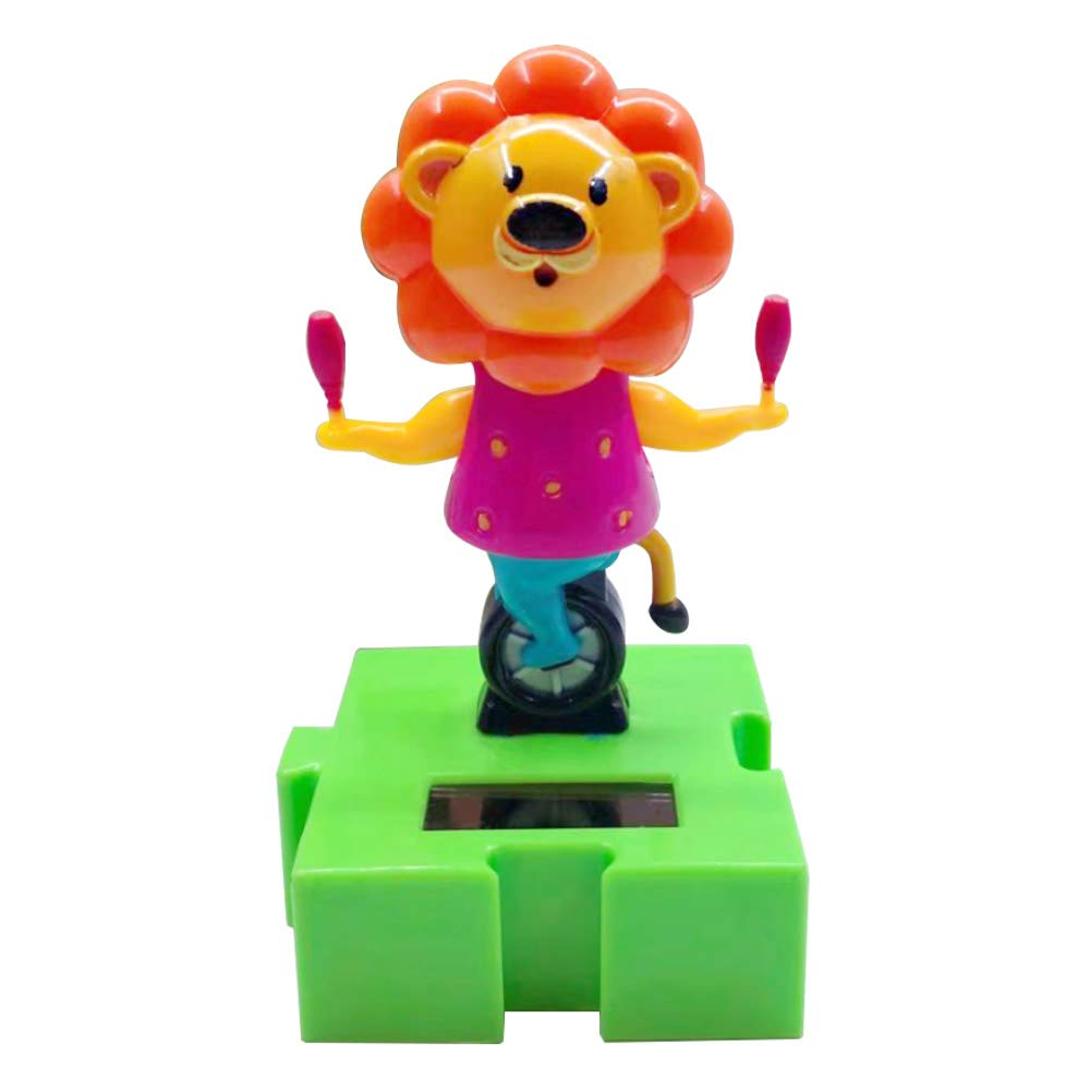 longyitrade - Jouet Solaire pour Voiture - Style Lion créatif - Décoration de Tableau de Bord - pour Enfants