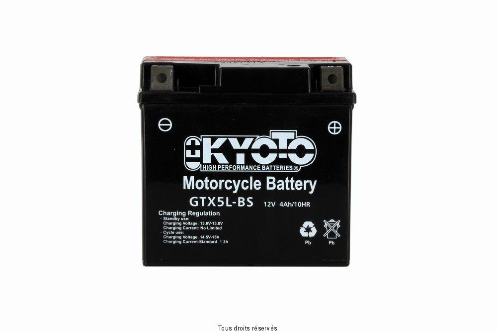 KYOTO Batterie Moto Ytx5l-bs - Ss Entr. Acide L 114mm W 71mm H 106mm 12v 4ah Acide 0, 27l MOT8610-1