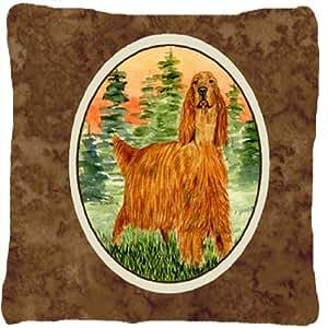 Setter irlandés decorativo tela almohada