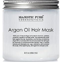 Majestic Pure Argan Oil Hair Mask, Natural Hair Care Product, Hydrating & Restorative Hair Repair Mask - 8 fl Oz