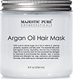 Majestic Pure Argan Oil Hair Mask, Natural Hair Care Product, Hydrating & Restorative Hair Repair Mask - 8 fl Oz