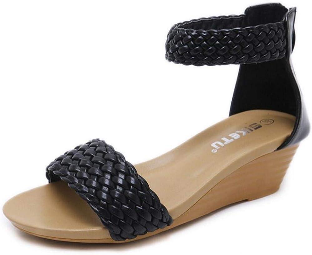 CularAcci Women Wedge Heel Bohemia Sandals