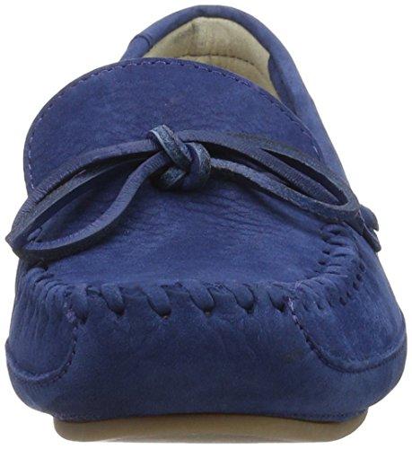 Clarks Natala Rio, Mocasines para Mujer Azul (Dark Blue Nubuck)