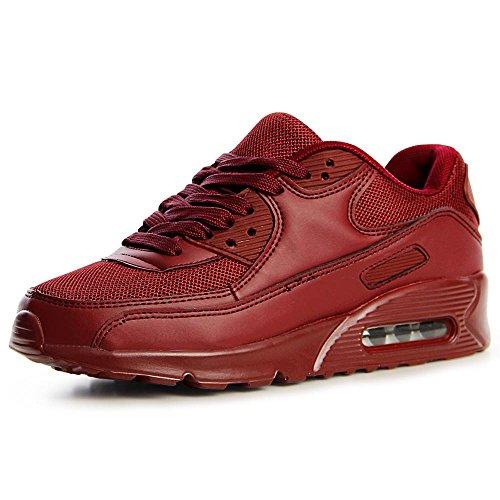 Chaussures Rouge Sneaker Sport Foncé De Femmes Topschuhe24 5WZ1qnHgww