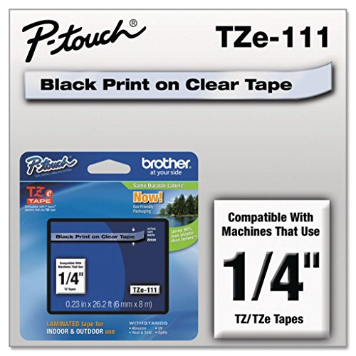 (Brother P-Touch TZE2312PK TZe Standard Adhesive Laminated Labeling Tapes 1/2