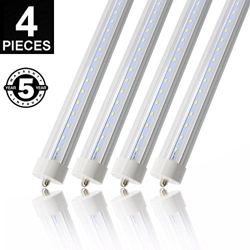 8' Single Light (CNSUNWAY 8ft 45 Watt T8 LED Tube, 96