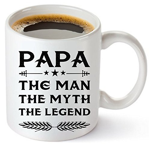 (Muggies Papa Mug - Gift For Dad And Grandpa! Coffee Tea 11oz Cup. Unique Gifts For Men & Husband! Christmas, Birthday, Father's Day - Papa The Man The Myth The Legend! + Woodworking Ebook By Muggies )