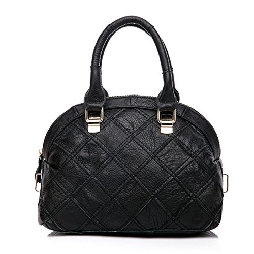 ZPFME Bolso Para Mujer Bolso Paquete Costura Bolso Zurriago Niñas Fiesta Retro Señoras Moda Black