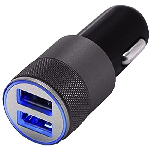 Wensltd Mini Dual USB Twin Port 12V Universal In Car Lighter Socket Charger Adapter plug