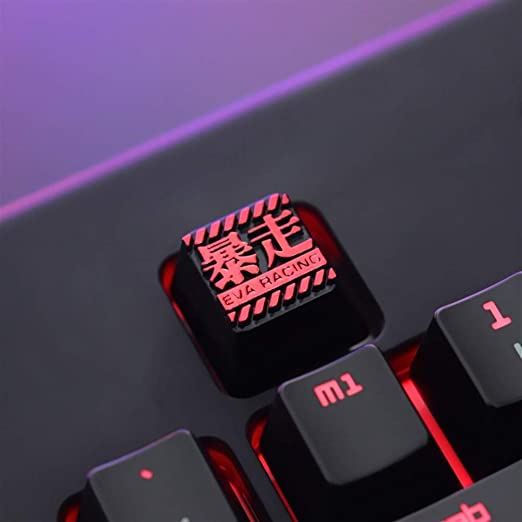 Man-hj Keyboard keycaps 1 Piece Galvanized Aluminum Alloy Keycap for MX Switch Color : Black