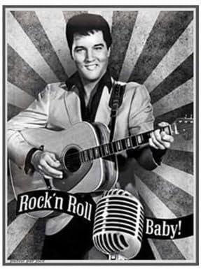Pro Neuf Elvis Presley Portrait Photo Murale en m/étal U.S.A