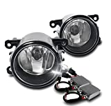 Acura / Ford / Honda / Jaguar / Lincoln / Subaru / Suzuki OEM Style Replacement Fog Lights with 50W 6000K HID Conversion Kit - Chrome