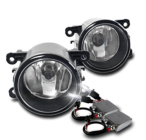 Acura / Ford / Honda / Jaguar / Lincoln / Subaru / Suzuki OEM Style Replacement Fog Lights with 50W 6000K HID Conversion Kit - Chrome by ZMAUTOPARTS
