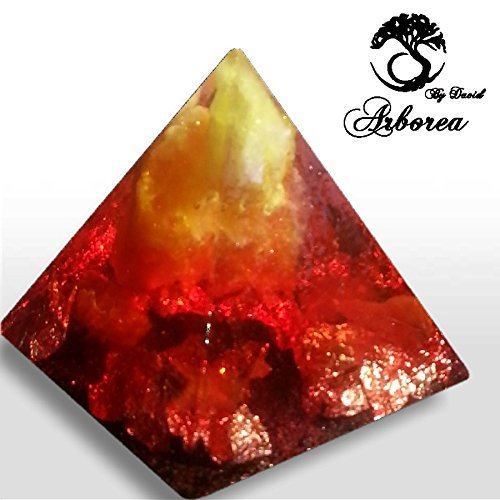 Arborea Orgone Pyramid, Fire Element orgonita