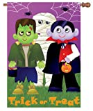 Premier Kites 52856 House Brilliance Flag, Trick or Treat, 28 by 40-Inch