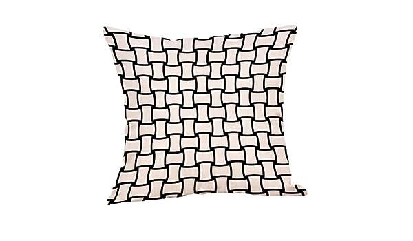 Fulijie Fundas de Almohada, diseño geométrico, Funda de ...