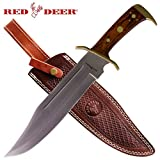 "16.5"" Red Deer Western Outlaw Bowie Knife"