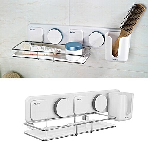 hot sale 2017 Gaoyu Suction Cup Wall Mounted Bathroom Kitchen Toilet Shelf Furniture Sets 263003 - NO TOOLS REQUIRED