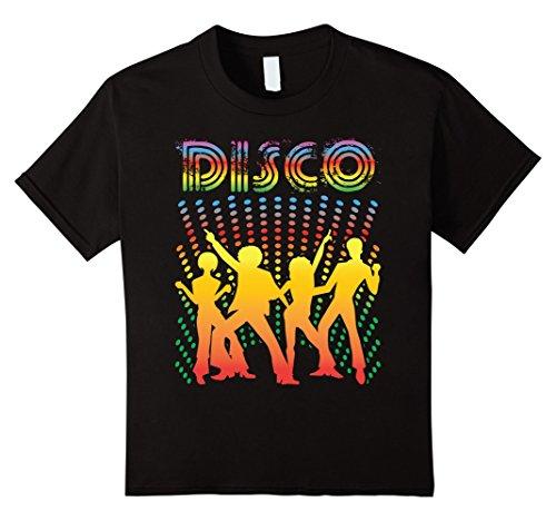 Kids Disco T-Shirt - Vintage Style Dancing Retro Disco Shirt 8 (Disco Wear For Kids)