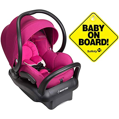 Maxi-Cosi Mico Max 30 Infant Car Seat – Frequency Pink with Bonus Baby on Board Sign