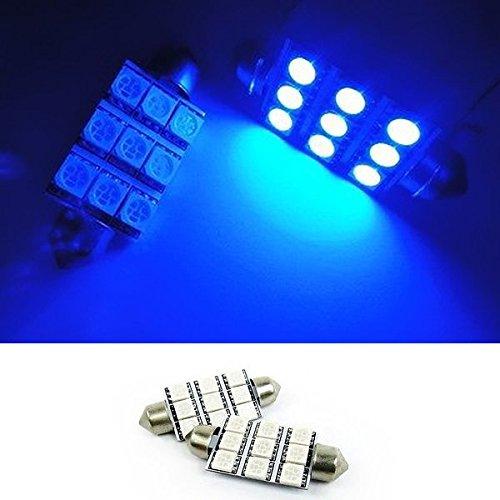 "2pcs of Festoon 42mm 1.65/"" LED Map Light 6 Blue Bulbs One Pair 211-2 212-2"