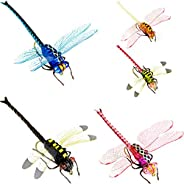 Realistic Fly Fishing Dry Flies for Trout Bass with Waterproof Fly Box