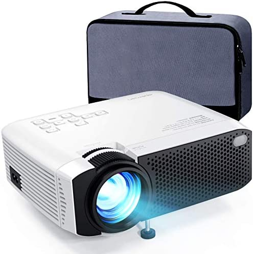 Mini Projector, APEMAN 5000L Brightness 180″ Display Projector [Carry Case Included], Support 1080P, 55,000 Hours LED Life, Compatible with TV Stick, TV Box, PS4, HDMI, VGA, TF, AV, USB for Home Movie