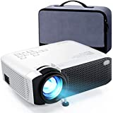 Mini Projector  APEMAN 5000L Brightness 180 inch Display Projector [Carry Case Included]  Support 1080P  55 000 Hours LED Life  Compatible with TV Stick  TV Box  PS4  HDMI  VGA  TF  AV  USB for Home Movie