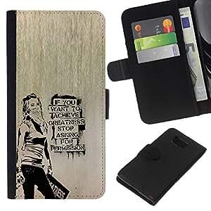 NEECELL GIFT forCITY // Billetera de cuero Caso Cubierta de protección Carcasa / Leather Wallet Case for Samsung ALPHA G850 // Banksy Graffity