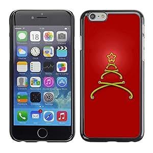 YOYO Slim PC / Aluminium Case Cover Armor Shell Portection //Christmas Holiday Minimalist Tree Star 1276 //Apple Iphone 6 Plus 5.5 wangjiang maoyi