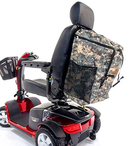 (Scooter Patriotic Rucksack Seatback Large MEGA Bag Challenger Mobility J840P for Pride, Jazzy, Pursuit, Go-Go, Victory, Buzzaround & Veterans)