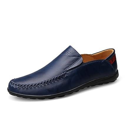 Ofgcfbvxd Casual Hombre Mocasines de conducción Mocasines Wave Sole Zapatos cómodos de Ocio Zapatos Formales (