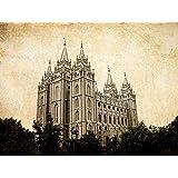 LDS (Mormon) Temple Print (Print Only - 18 x 24, Salt Lake Landscape)