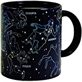 Heat Changing Constellation Mug - Add Coffee or Tea and 11 Constellations Appear - Comes in a Fun Box