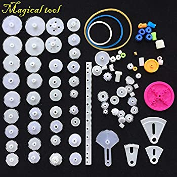 New 112pcs Plastic Gear Gearbox Electronics Diy Toy Car Boat Rc Aircraft Robot Repair Assembly Kit School Scientific Child Gift Electronic Components & Supplies