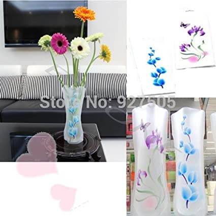 Amazon Com Colored Vases Plastic Unbreakable Foldable