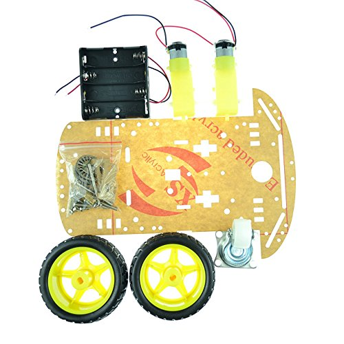 Laqiya 2WD Smart Robot Car Chassis Kit with Speed Encoder Battery Box Arduino 2 Motor 1:48 by Laqiya (Image #2)