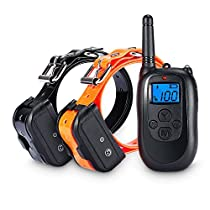 ALTMAN Dog Training Collar 330 Yard Remote Rechargeable and Waterproof 2 Collar Receiver, with Beep/Vibration/Electric Shock for Dogs
