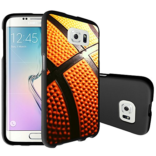 MINITURTLE Case Compatible w/ Matte MINITURTLE Case Compatible w/ Samsung Galaxy S7 [Snap Shell Series] Slim Fitted Hard Case [BLACK MATTE] - Close Up Basketball ()