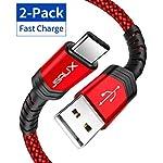 JSAUX-Cavo-USB-C-2-Pezzi-1m-2m-Cavo-USB-Intrecciato-in-Nylon-Tipo-C-a-Ricarica-Rapida-Compatibile-per-Samsung-Galaxy-S20-S10-S9-S8-Note-9-Huawei-P20-P10-mate20-Google-Pixel-Nexus-LG-Rosso