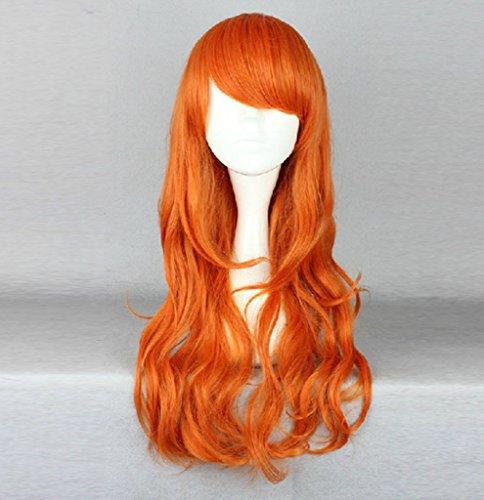 Cos-me One Piece Nami Long Orange Wig Cosplay Halloween Wigs Costume (Nami One Piece Costume)