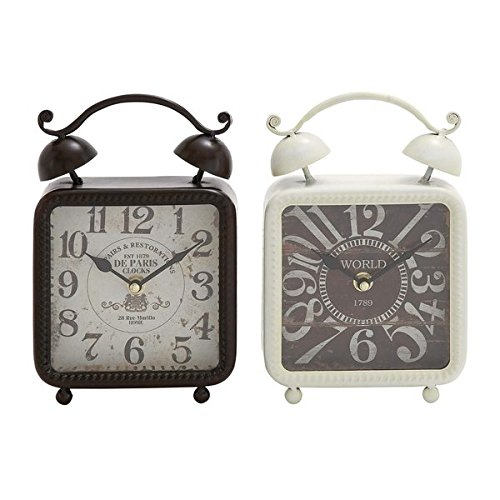 Rustic Reflections Metal Desk Clock (Set of 2) by Generic