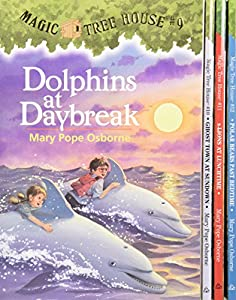 Magic Tree House Boxed Set, Books 9-12: Dolphins at Daybreak, Ghost Town at Sundown, Lions at Lunchtime, and Polar Bears Past Bedtime from Random House Books for Young Readers