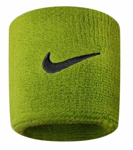 Nike Swoosh Wristbands (Atomic Green/Black, Osfm) by Nike (Image #1)