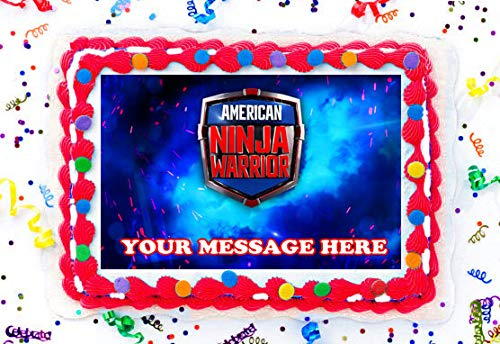 American Ninja Warrior Cake Topper Edible Image Personalized Cupcakes Frosting Sugar Sheet (8